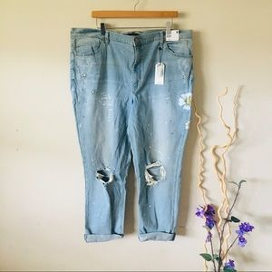 Size 18 high waisted girlfriend jeans
